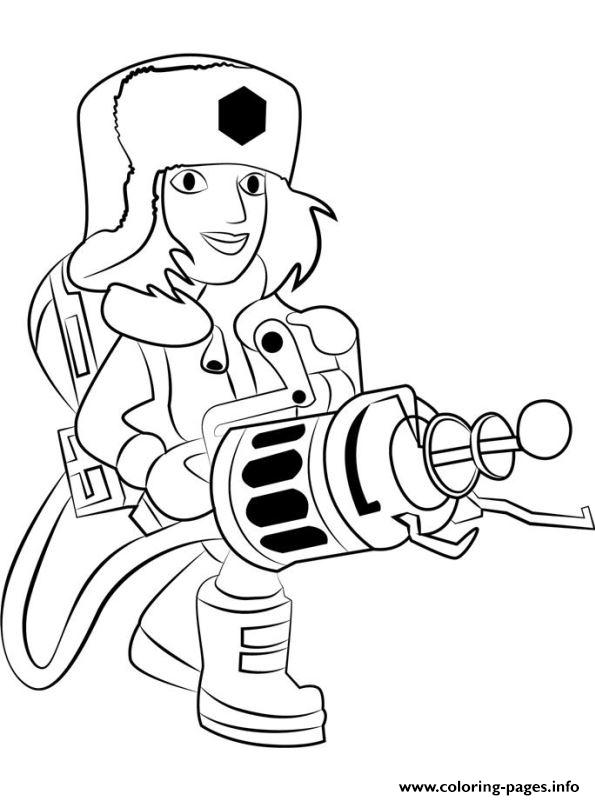 Boom Beach Cryoneer coloring pages