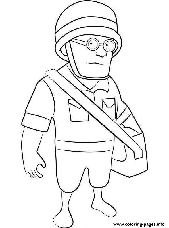 Boom Beach Medic coloring pages
