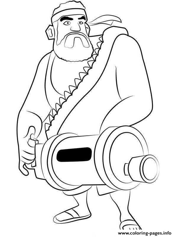 Boom Beach Heavy coloring pages