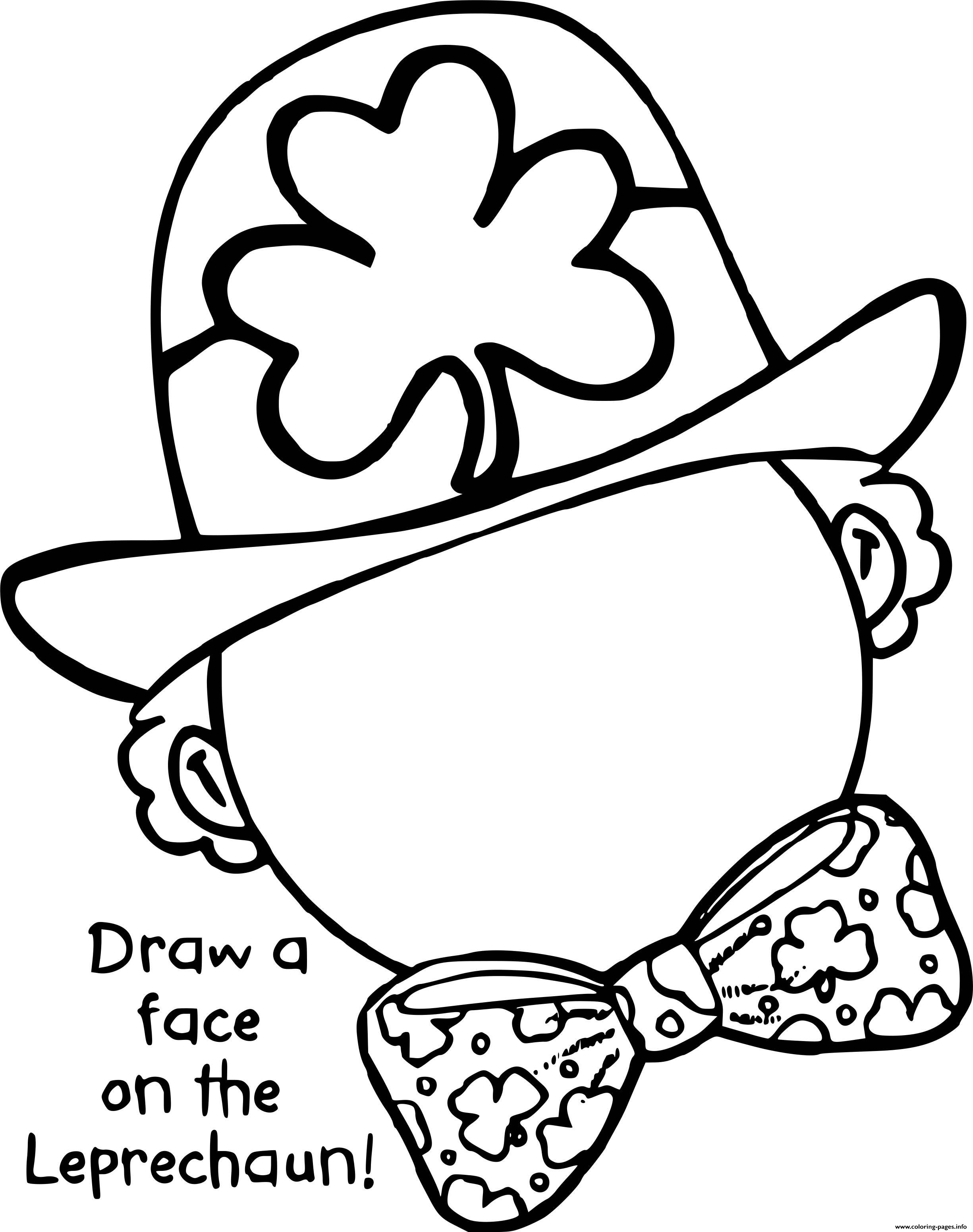 Complete The Leprechaun Coloring Pages Printable