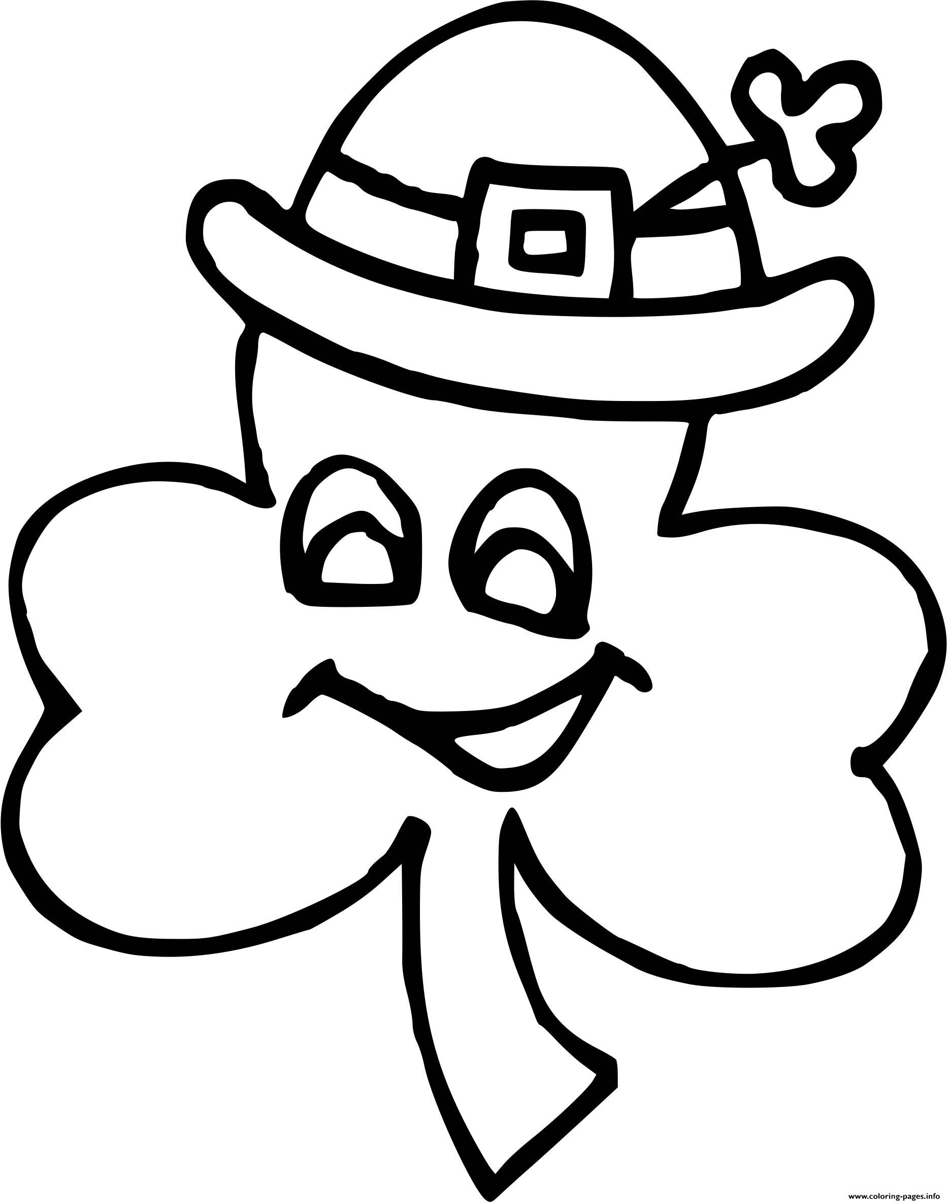 Leaf Funny St Patricks coloring pages