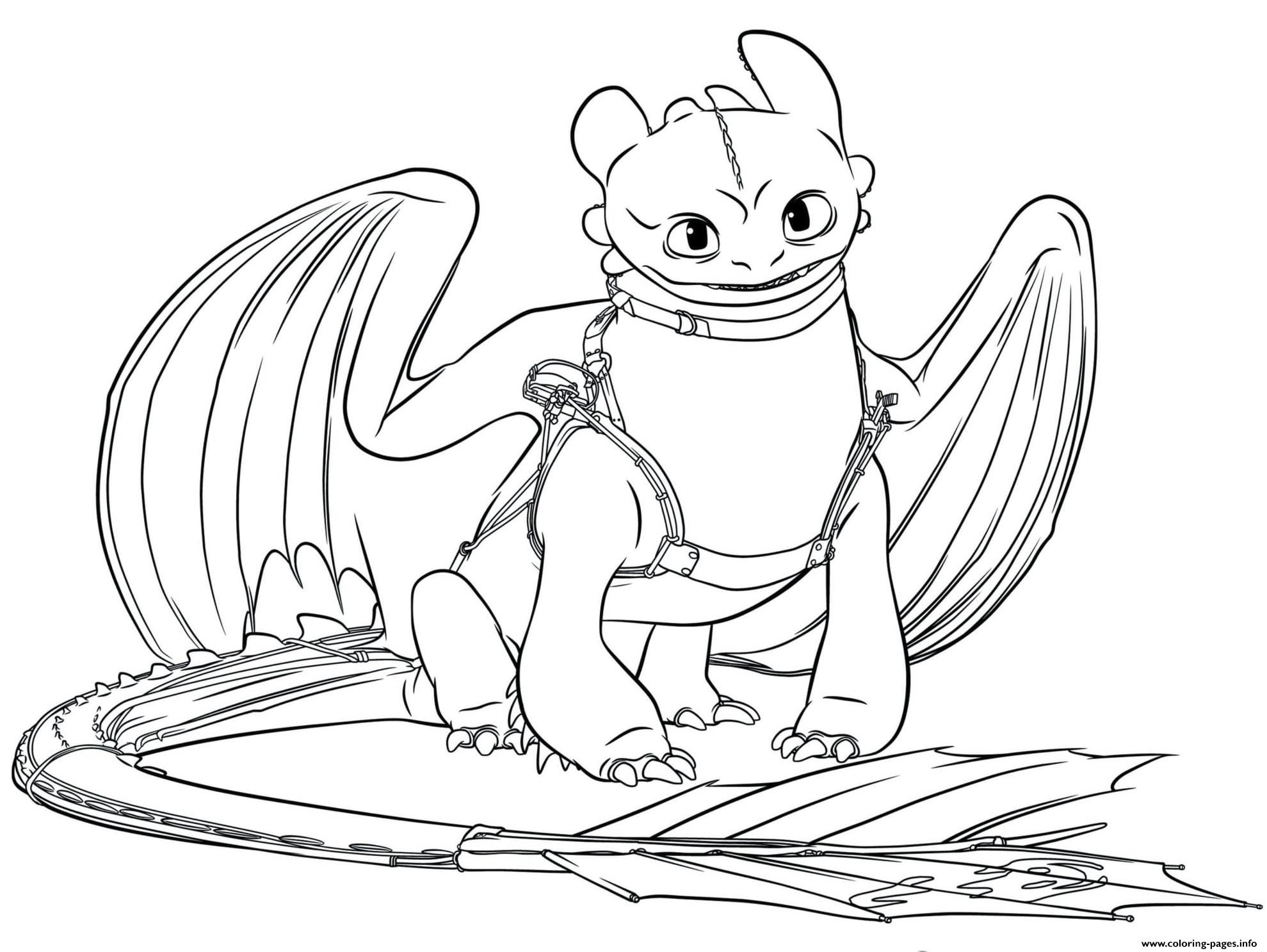 Toothless Dragon 3 Coloring Pages Printable