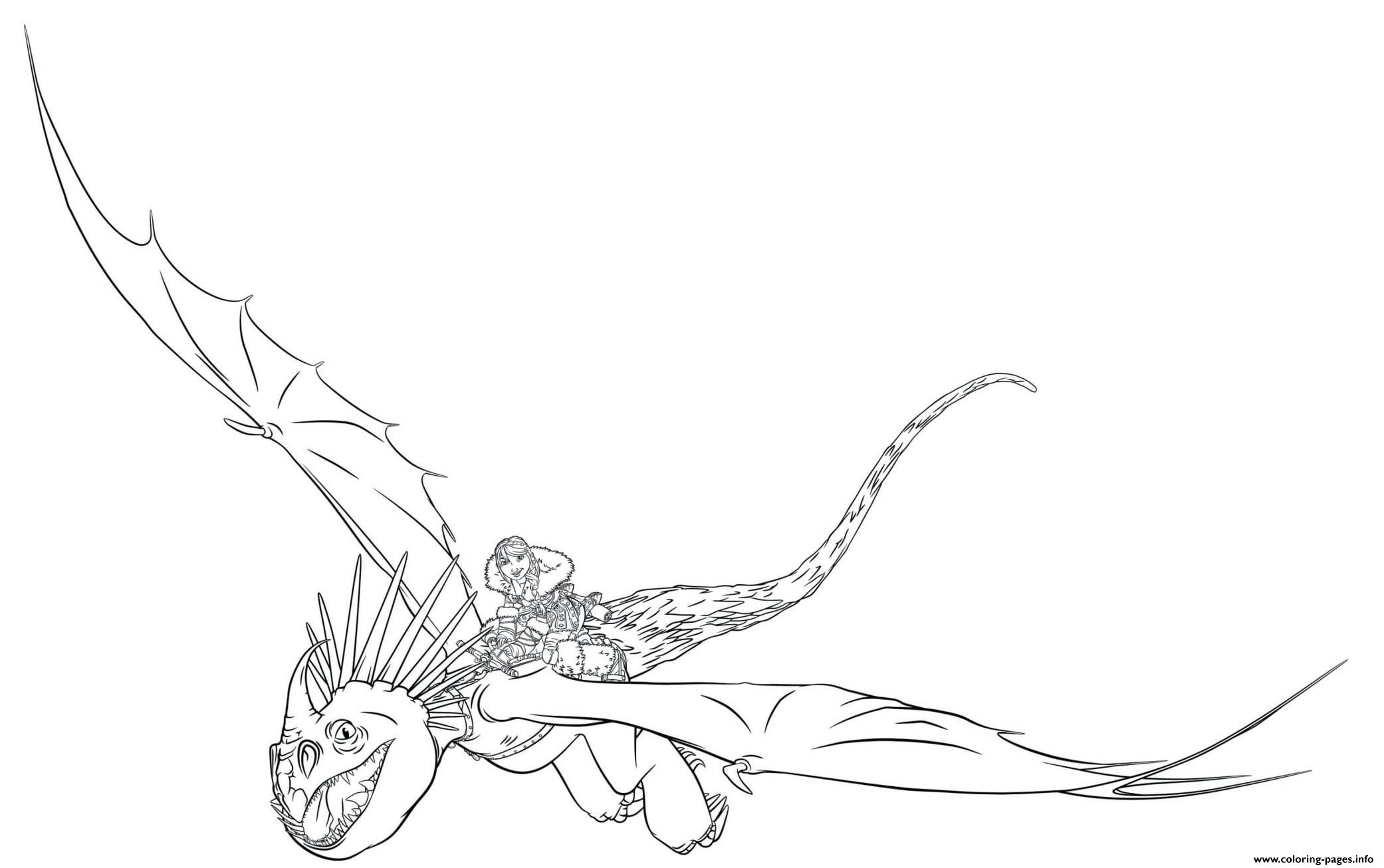 Astrid Stormfly Train Dragon 3 coloring pages