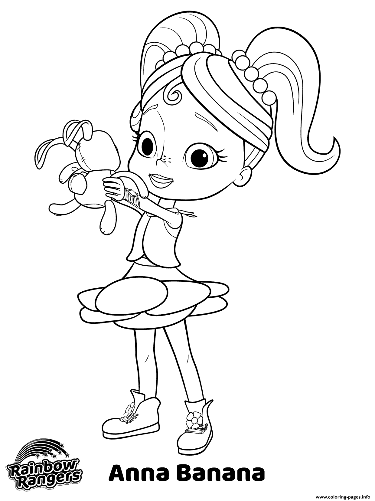 Anna Banana Nick Jr Rainbow Rangers Coloring Pages Printable