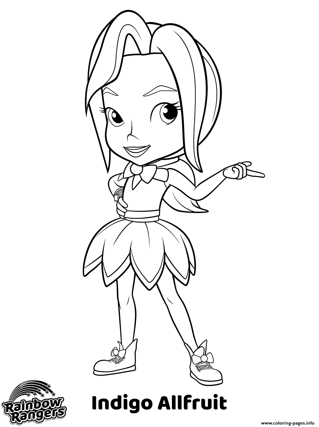 Prankster Rainbow Rangers Coloring Pages Printable