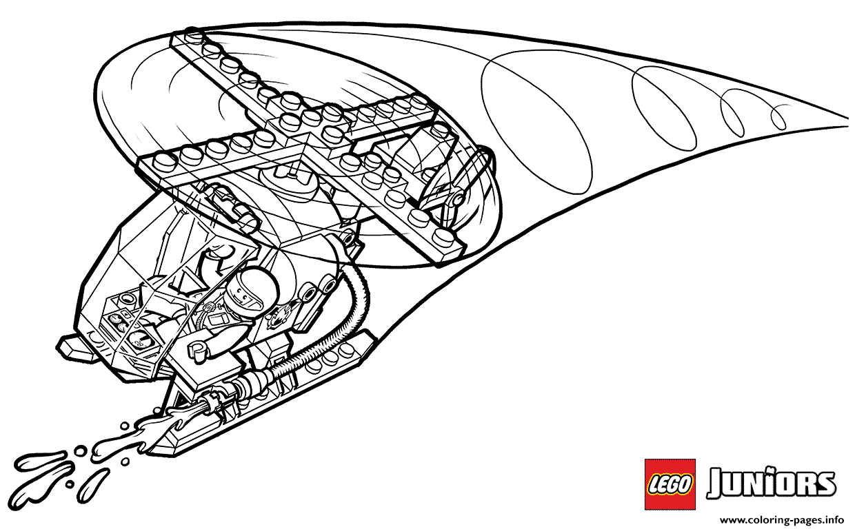 Lego Fire Helicopter Coloring Pages