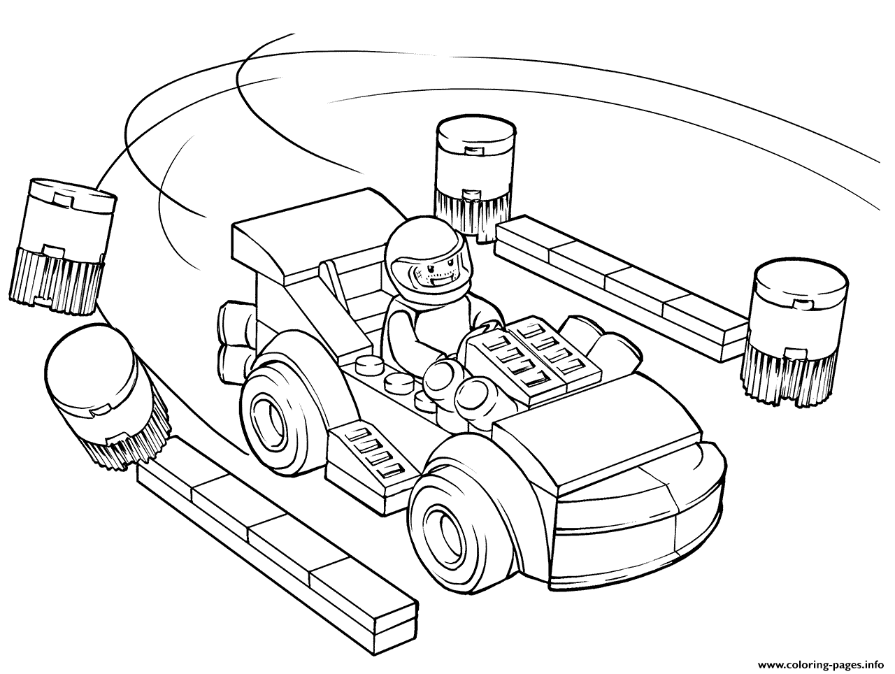 Lego Juniors Racing Car Driver Coloring Pages Printable