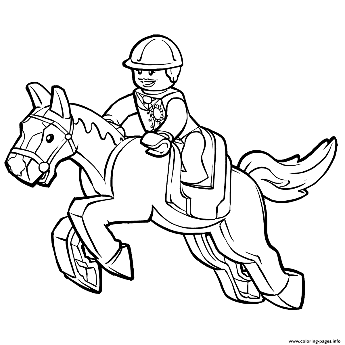 Lego Horse Coloring Pages Printable