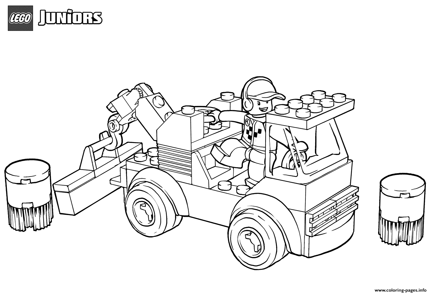 Lego Racetrack Tow Truck Coloring Pages Printable