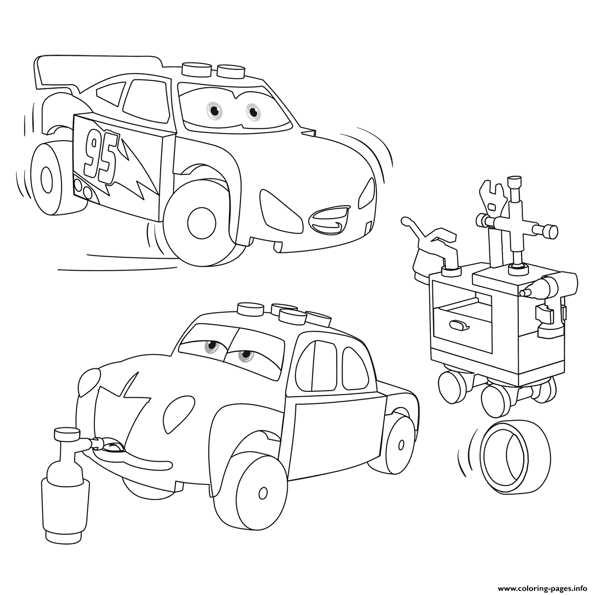 Lego Juniors Lightning Mcqueen And Junior Coloring Pages