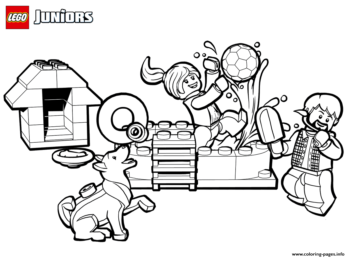 Lego Fun Coloring Pages Printable