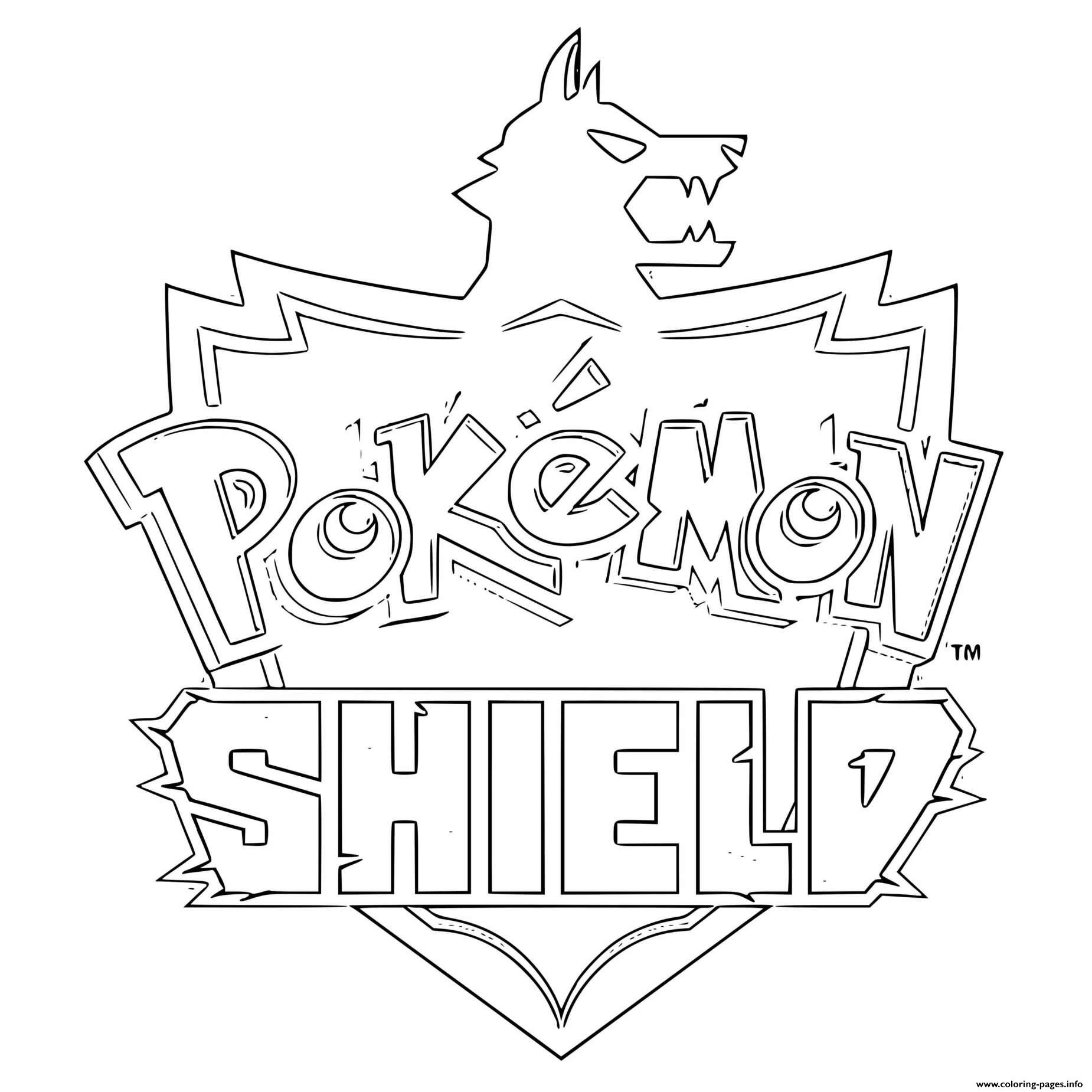 Pokemon Shield Logo coloring pages