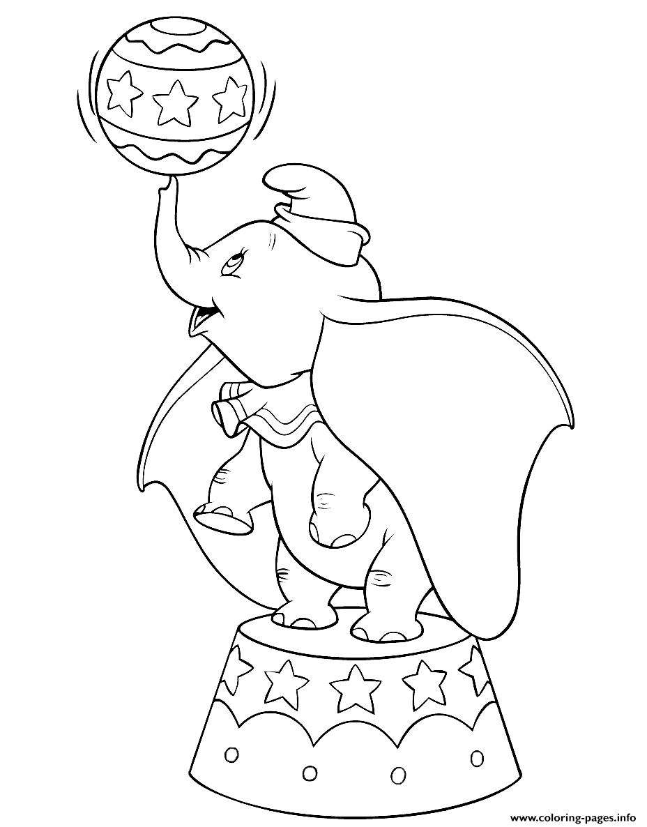 Dumbo In The Circus coloring pages