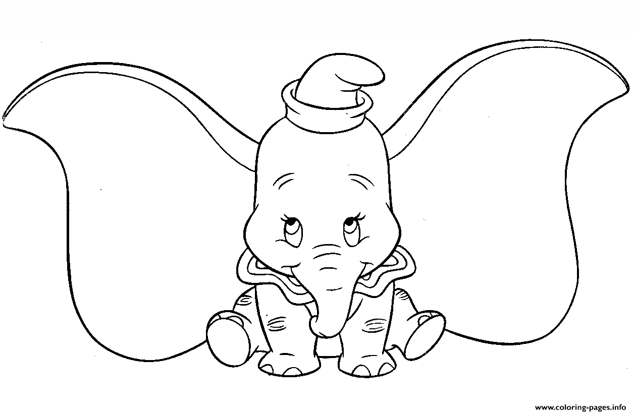 Cute Dumbo Cartoon coloring pages