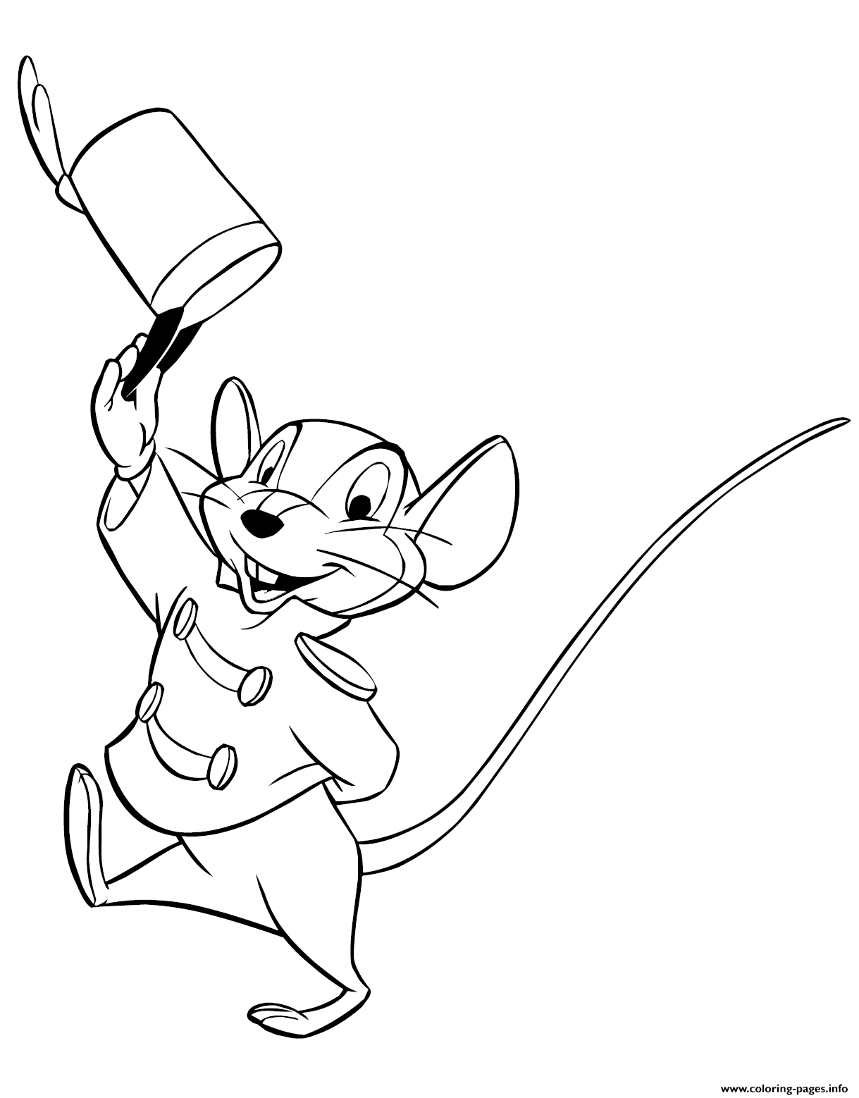 Timothy Q Mouse coloring pages