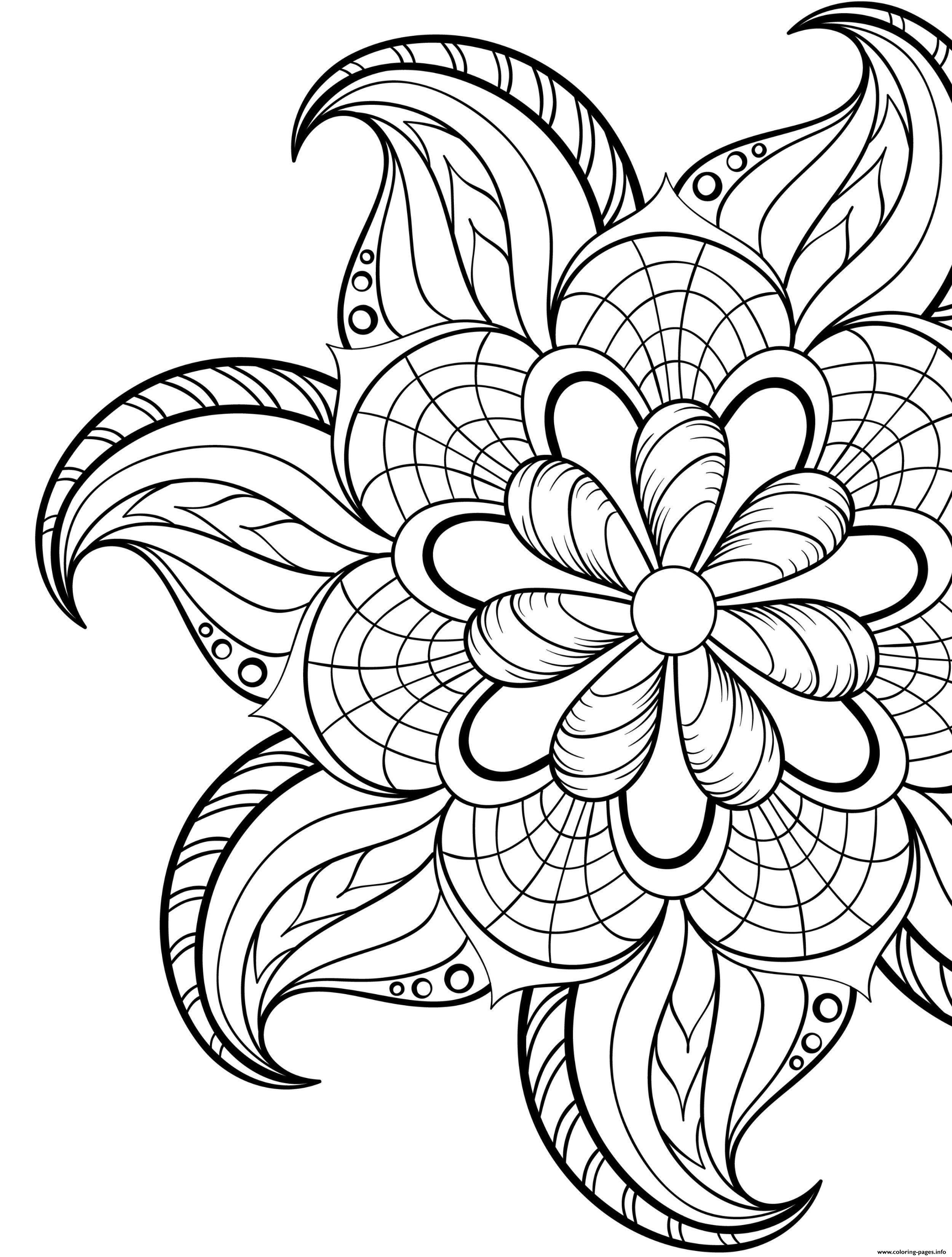 Mandala Flowers Spring Coloring Pages Printable