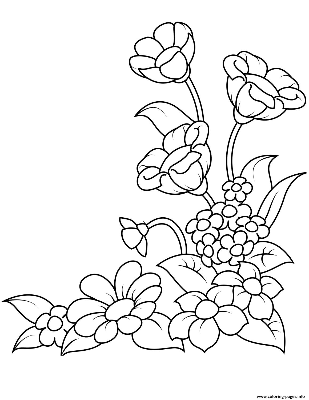Kleurplaat Frozen Png Spring Flowers Coloring Pages Printable