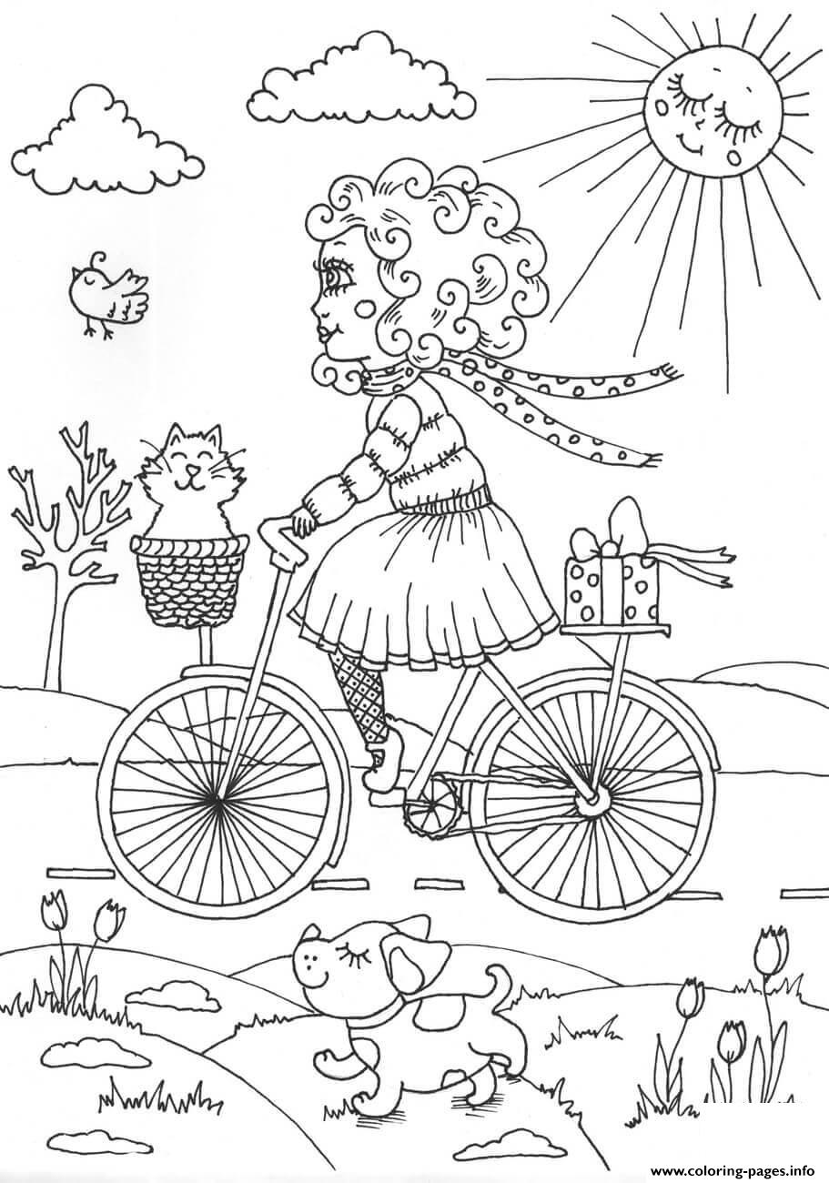 Peppy In April Spring Coloring Pages Printable