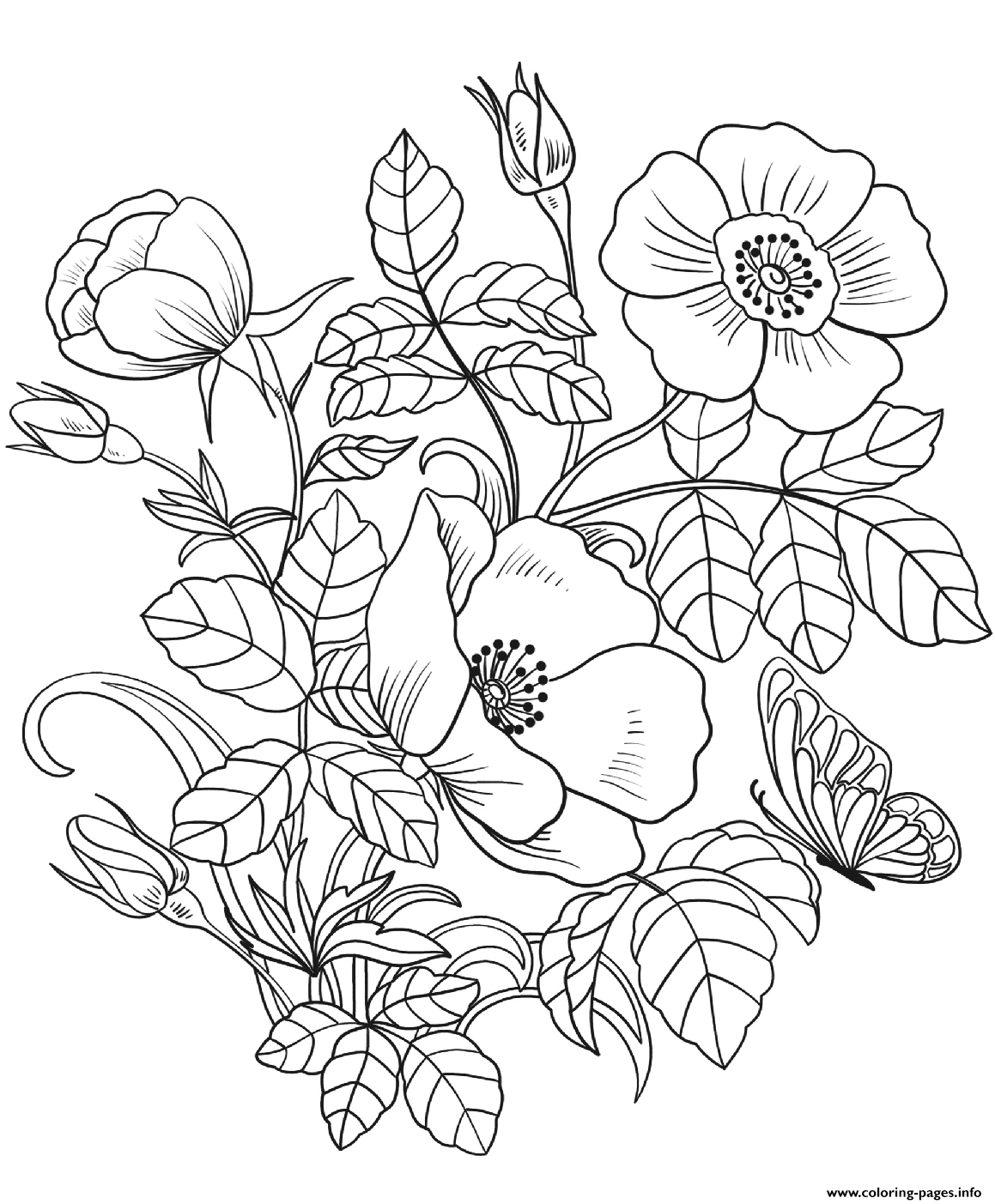 Spring Flowers Coloring Pages Printable