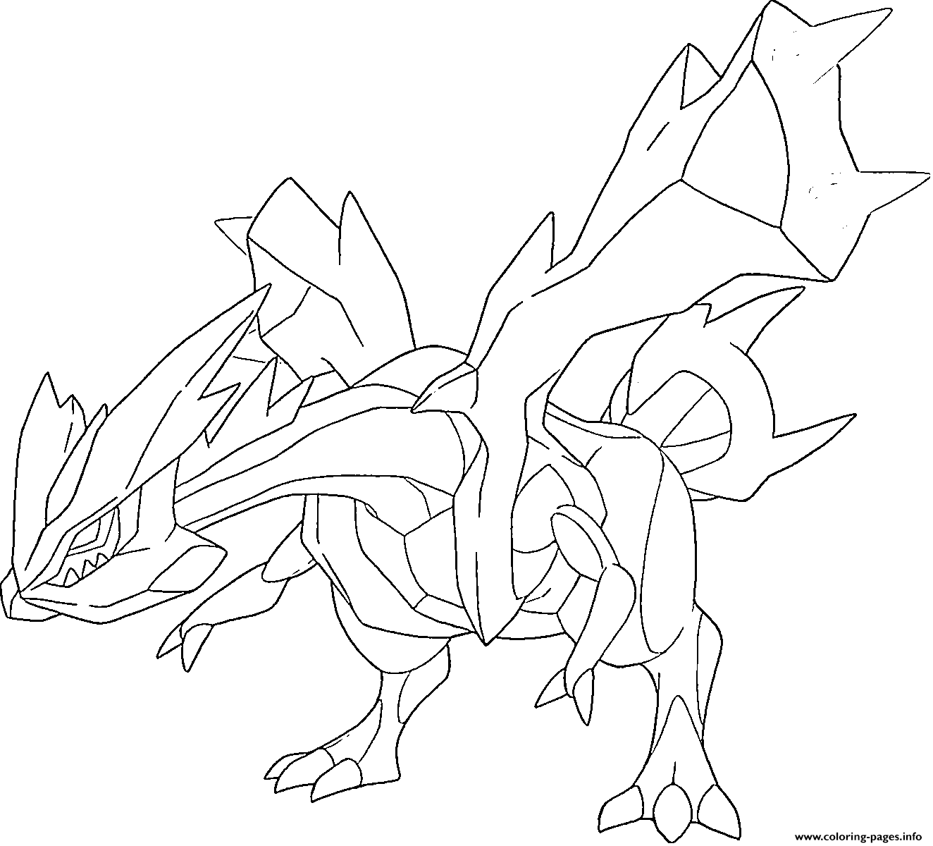 Kyurem Trio Yin Yang Qi Generation 5 Coloring Pages Printable