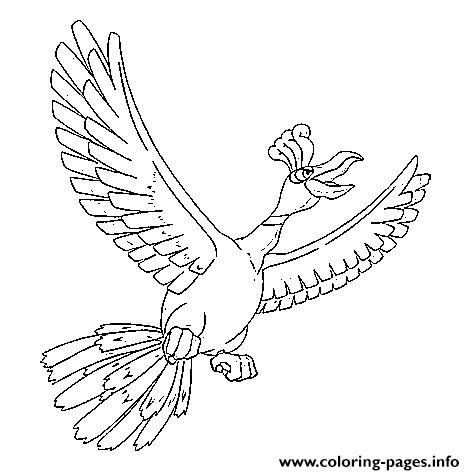 Ho Oh Generation 2 Coloring Pages Printable