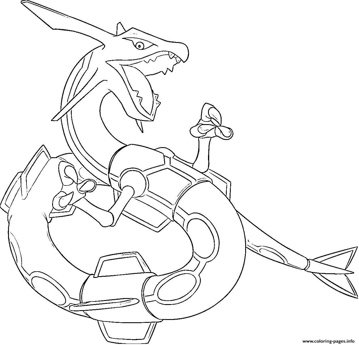 Rayquaza Pokemon Coloring Pages - Hd Football