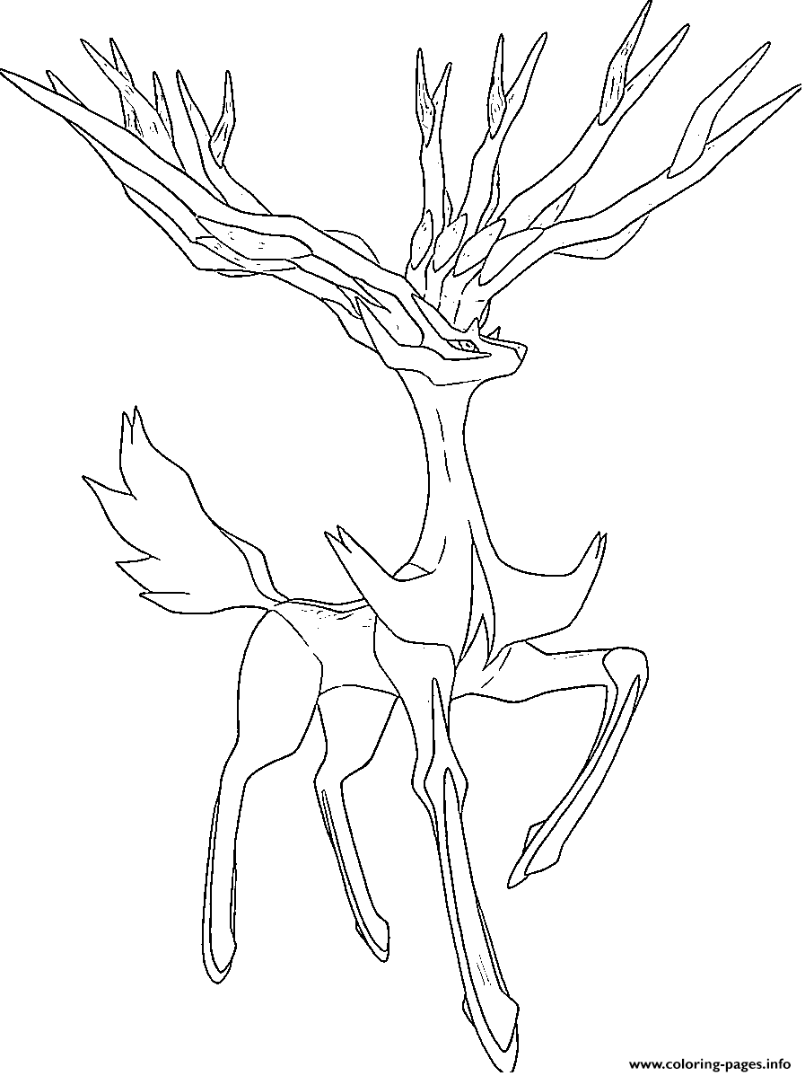 Xerneas Pokemon Legendary Generation 6 Coloring Pages ...