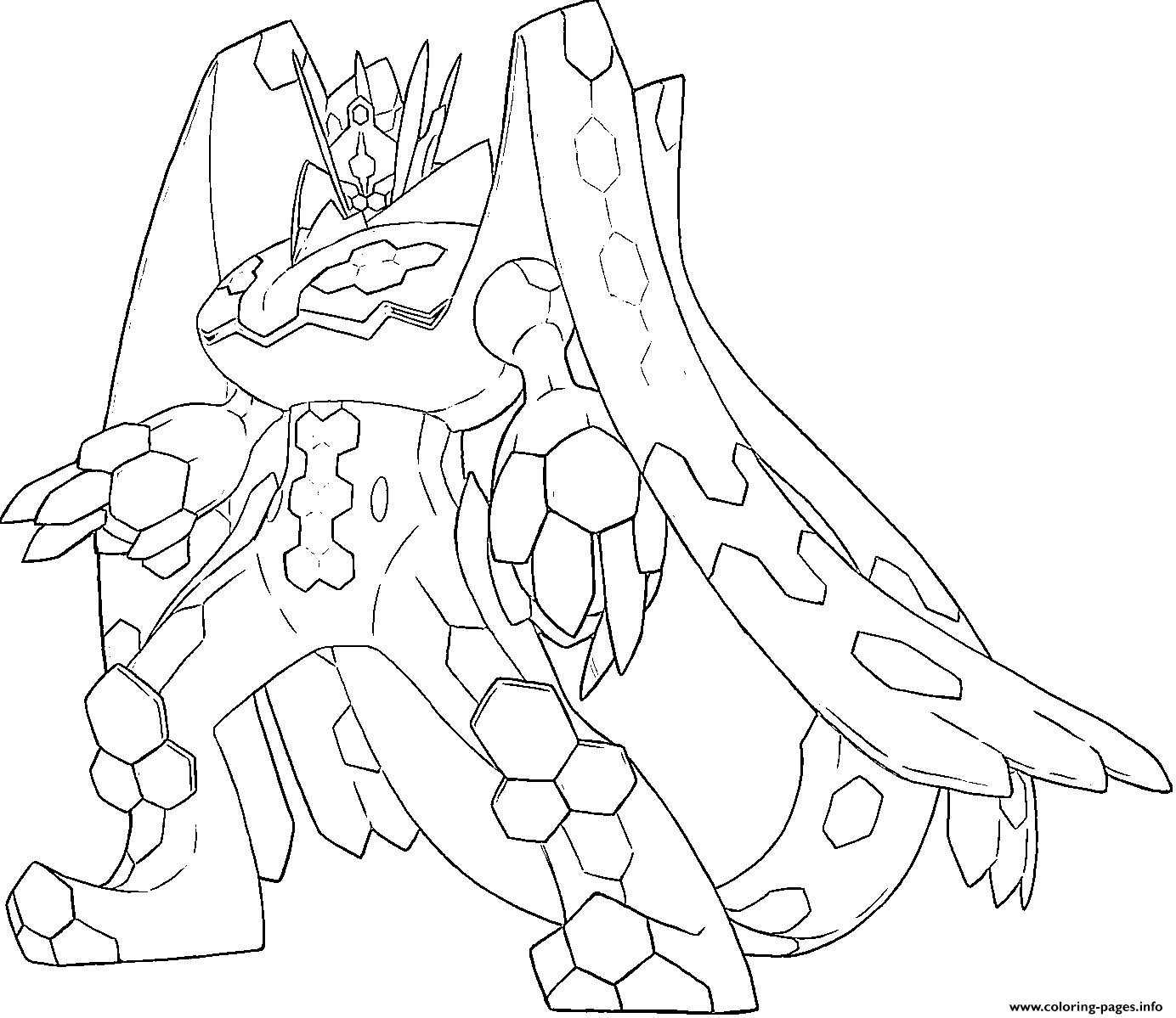 Zygarde P Pokemon Generation 7 Coloring Pages Printable