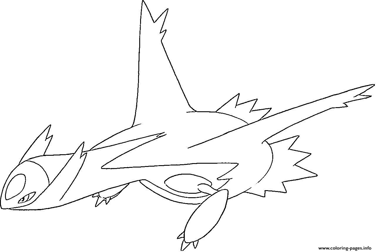 Latios Generation 3 Coloring Pages Printable