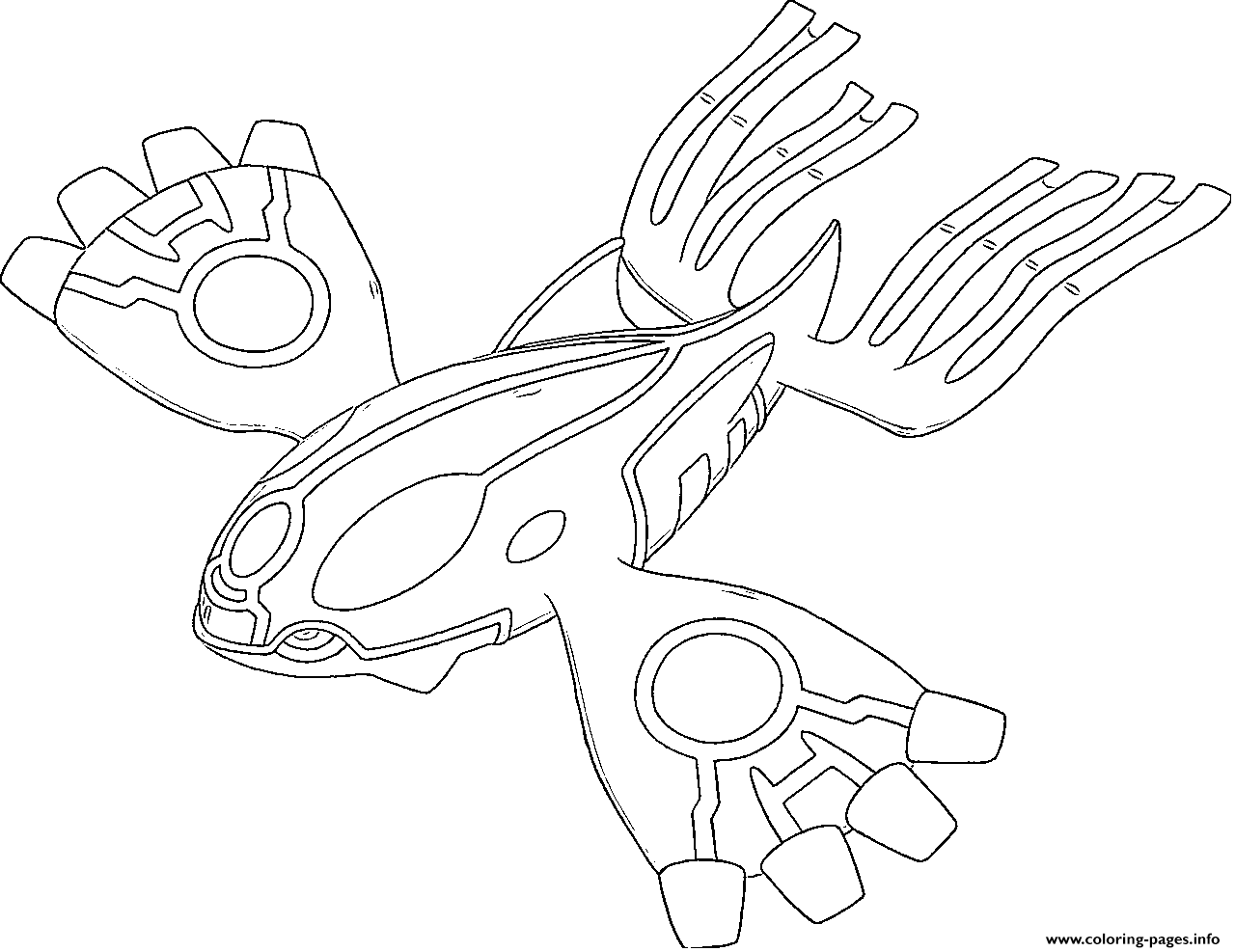 Primo Kyogre Primo Resurgences Generation 6 Coloring Pages Printable