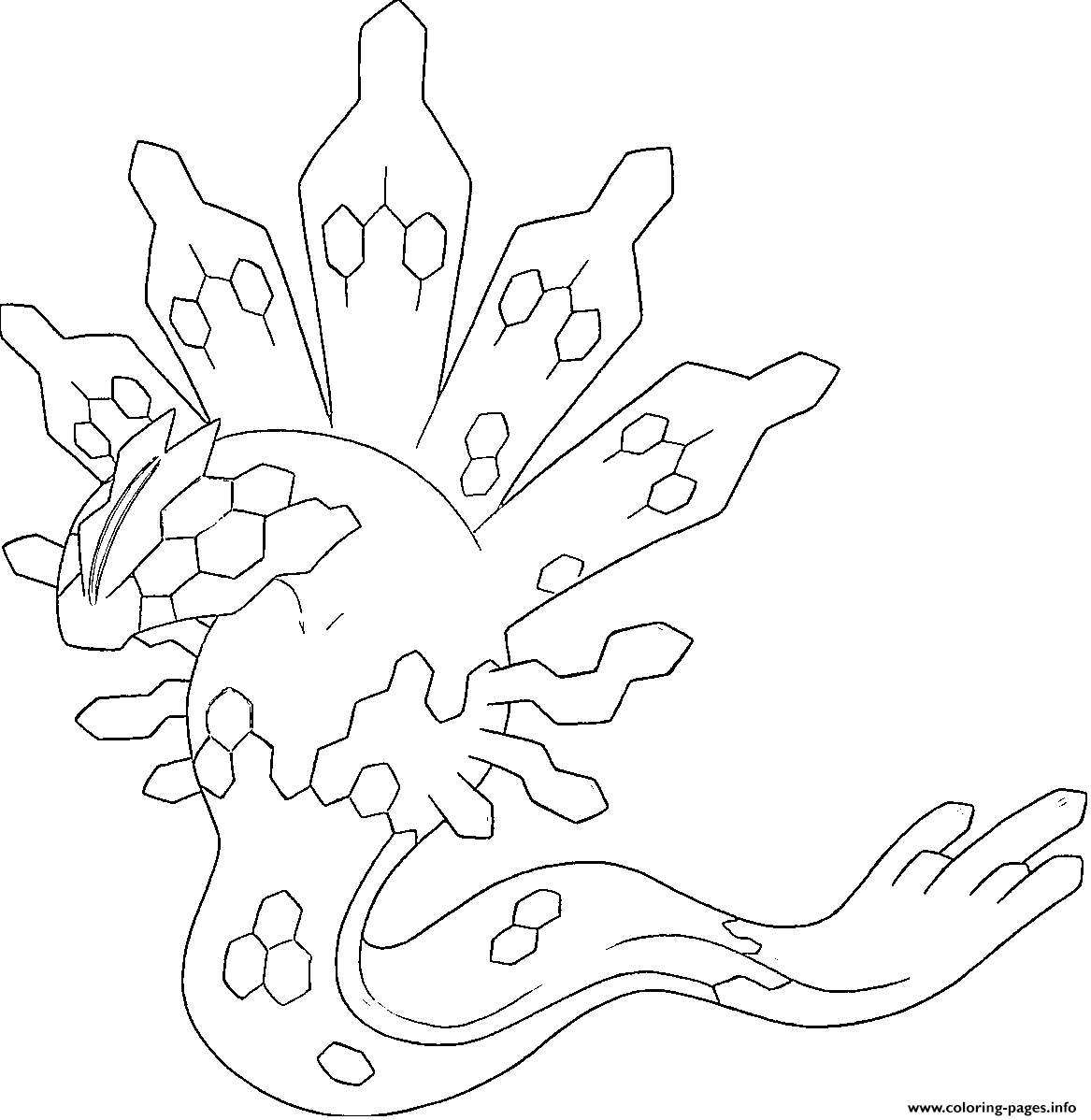 Zygarde Xy Pokemon Legendary Generation 6 Coloring Pages Printable