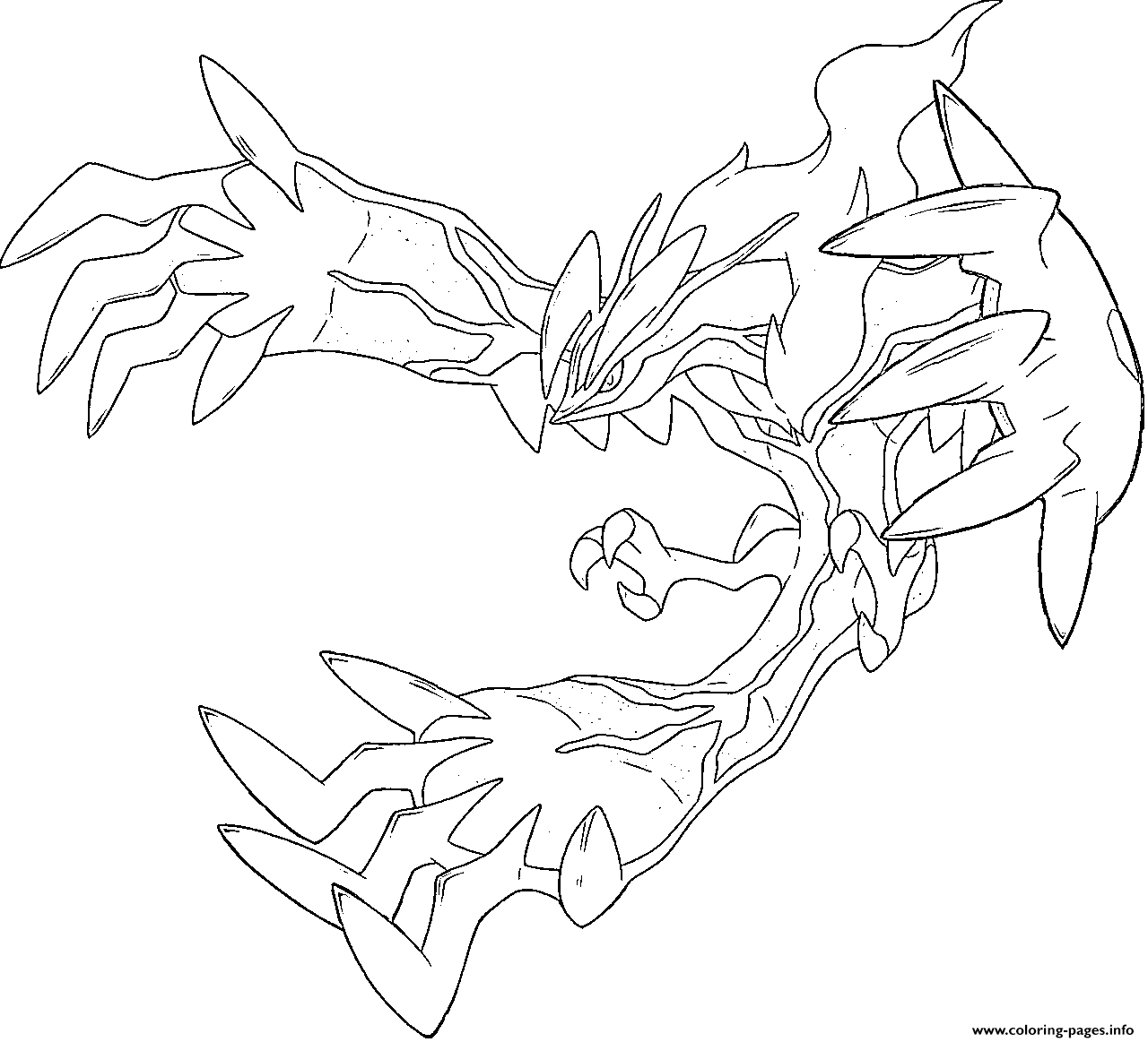 Yveltal Xy Pokemon Legendary Generation 6 Coloring Pages Printable