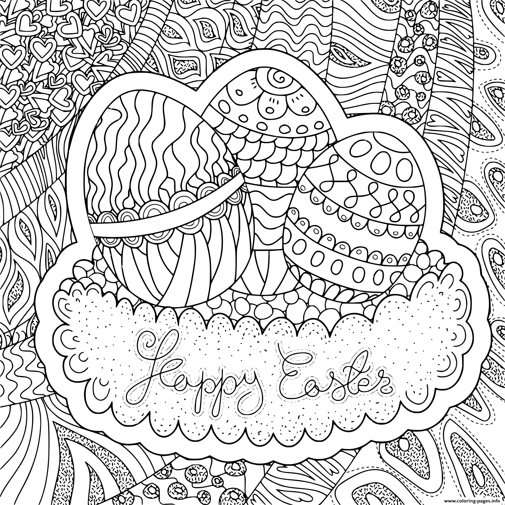 Chopkins Kleurplaat Square Shaped Pattern Happy Easter Coloring Pages Printable