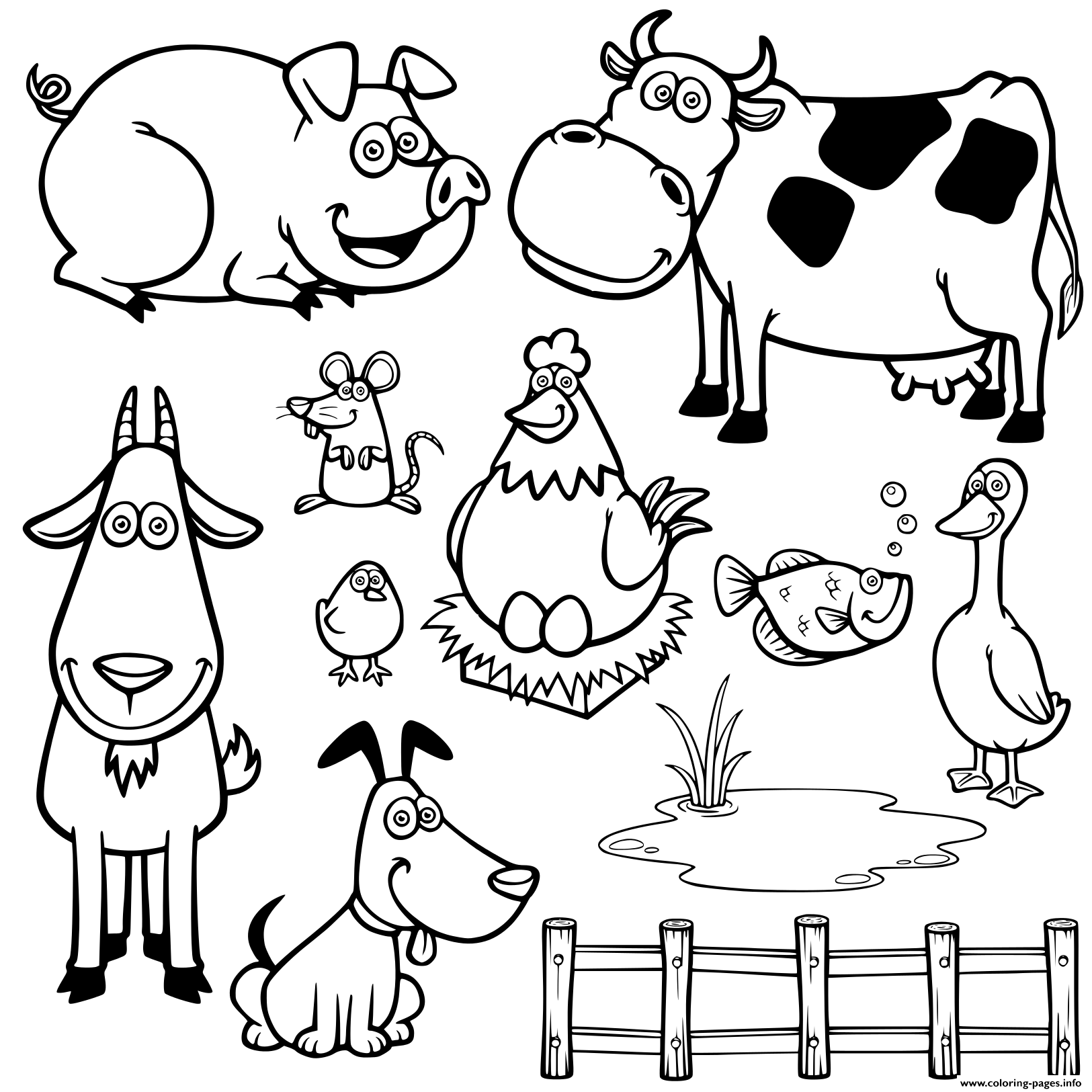 Duck coloring page. | Alphabet coloring pages, Animal coloring ... | 1625x1625