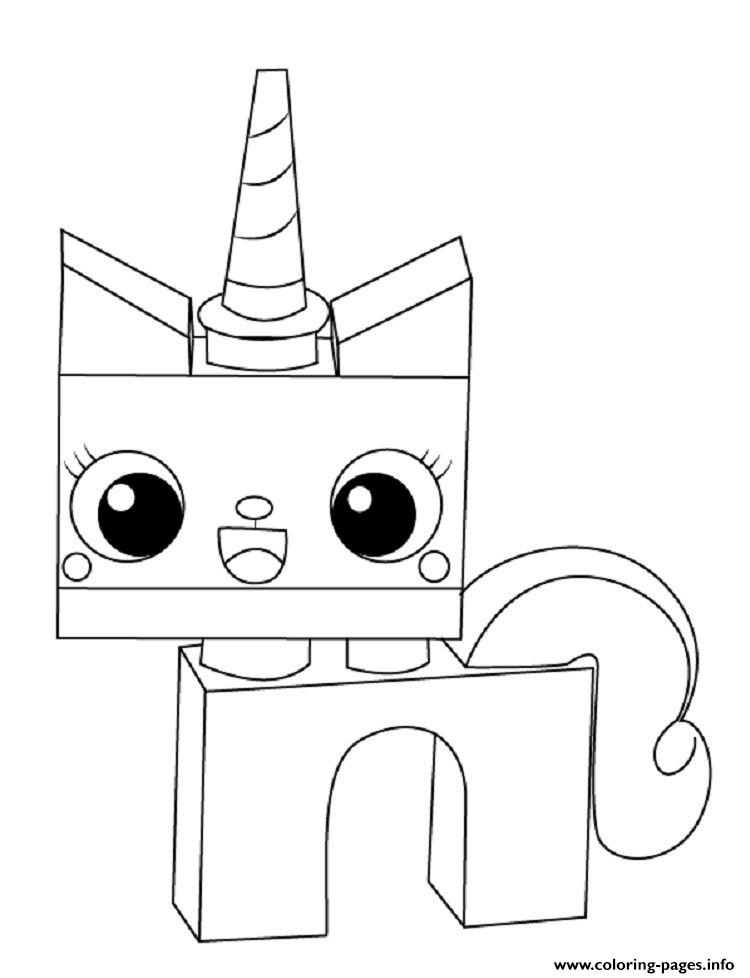 Princess Unicorn Unikitty Coloring Pages Printable