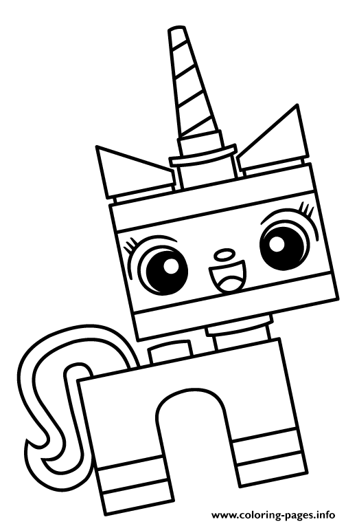 Unikitty Unicorn Cat Coloring Pages