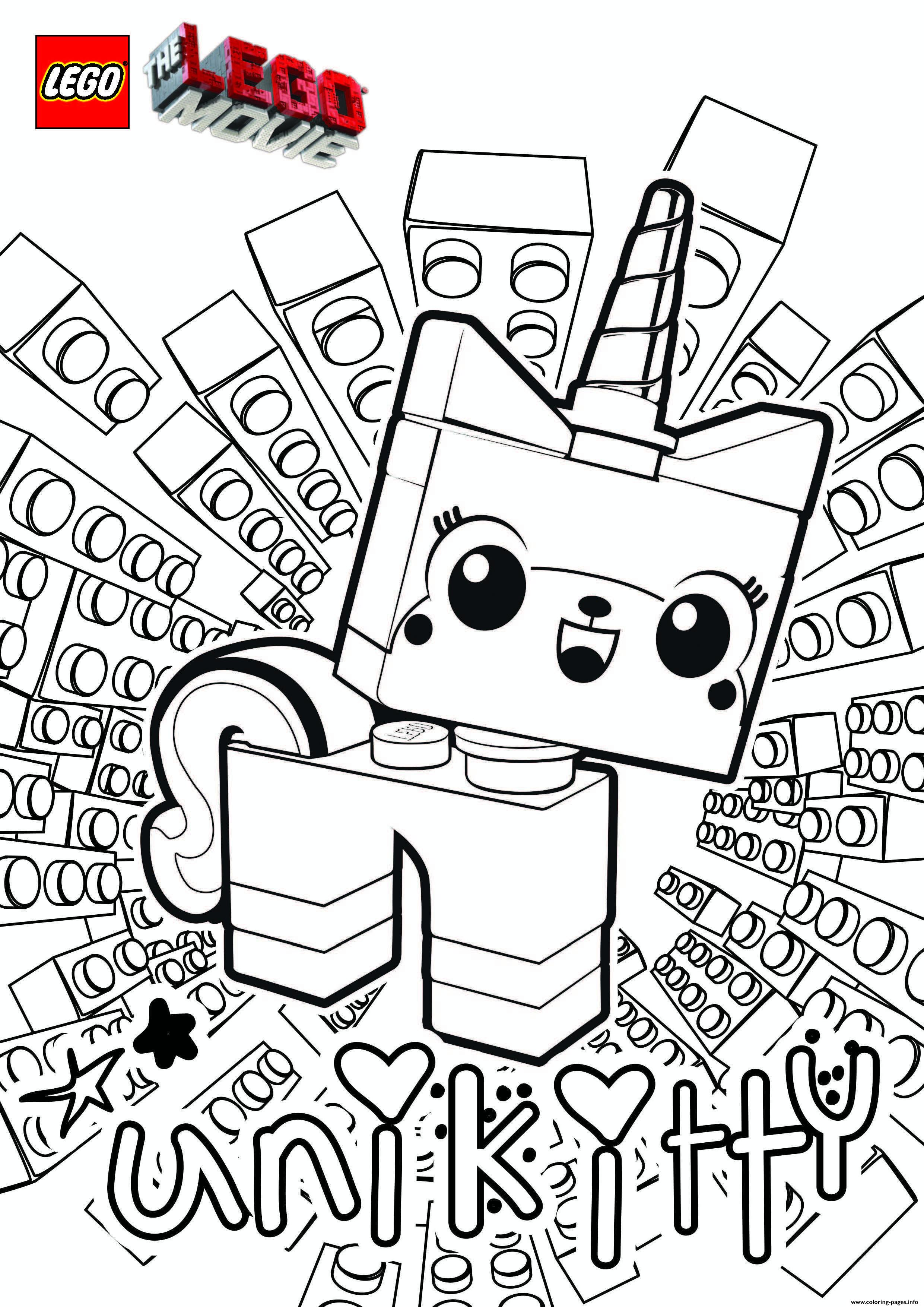 Unicorn Unikitty Lego Movie Coloring Pages Printable