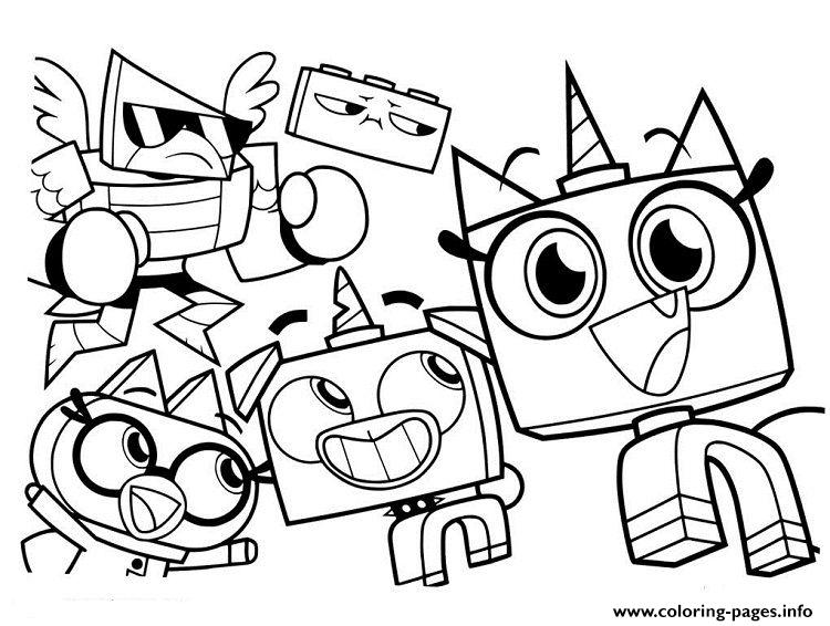 Unikitty And Friends Coloring Pages Printable