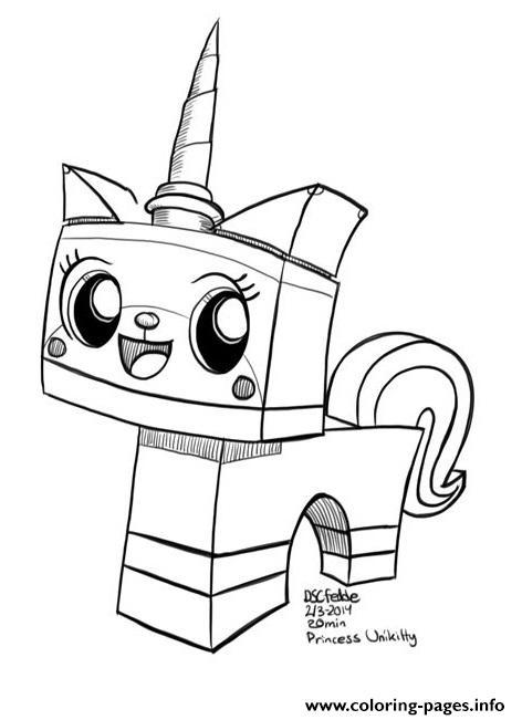 Unicorn Unikitty 3d Coloring Pages