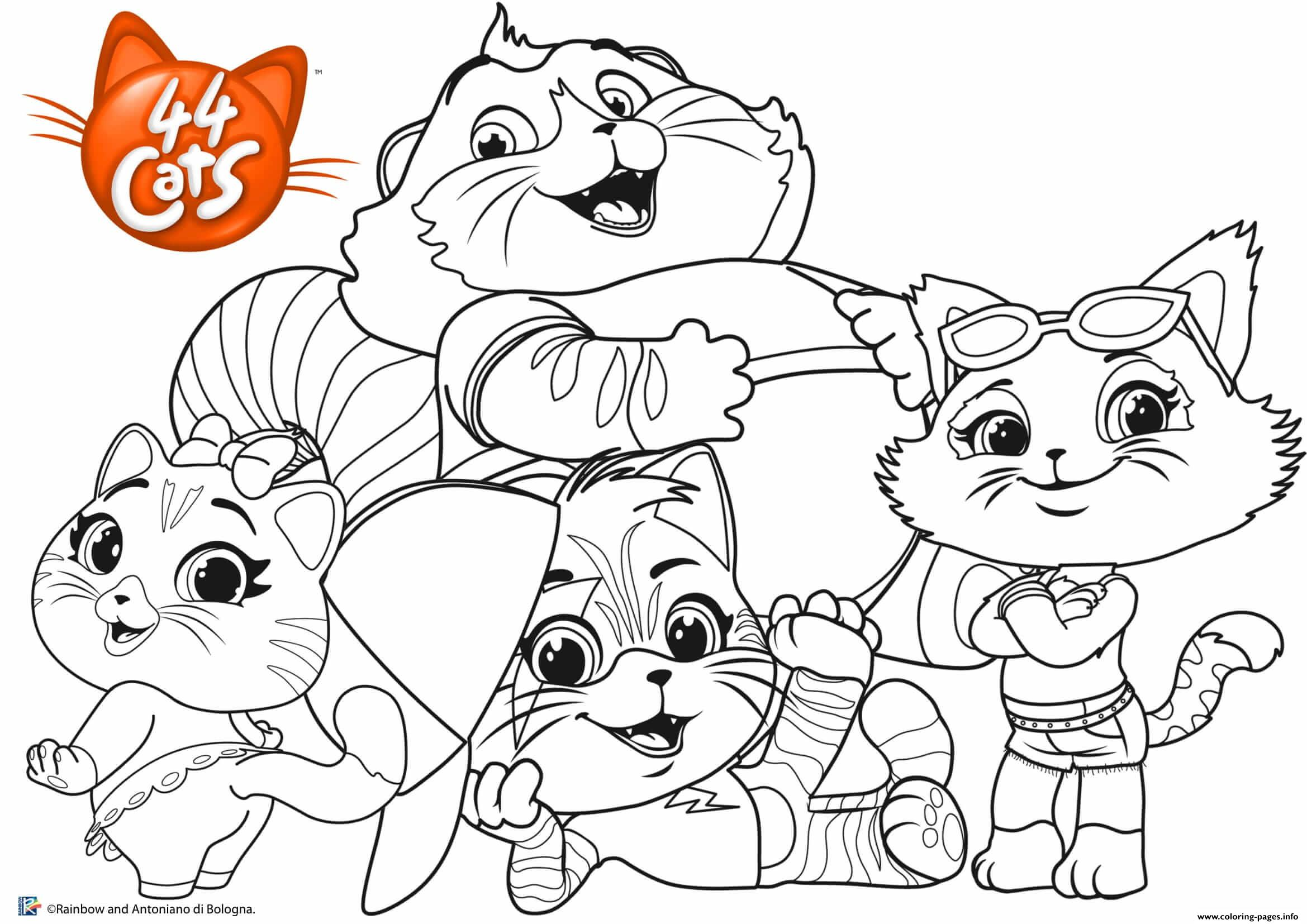 picture relating to Family Coloring Pages Printable identify Buffycats 44Cats Household Coloring Web pages Printable