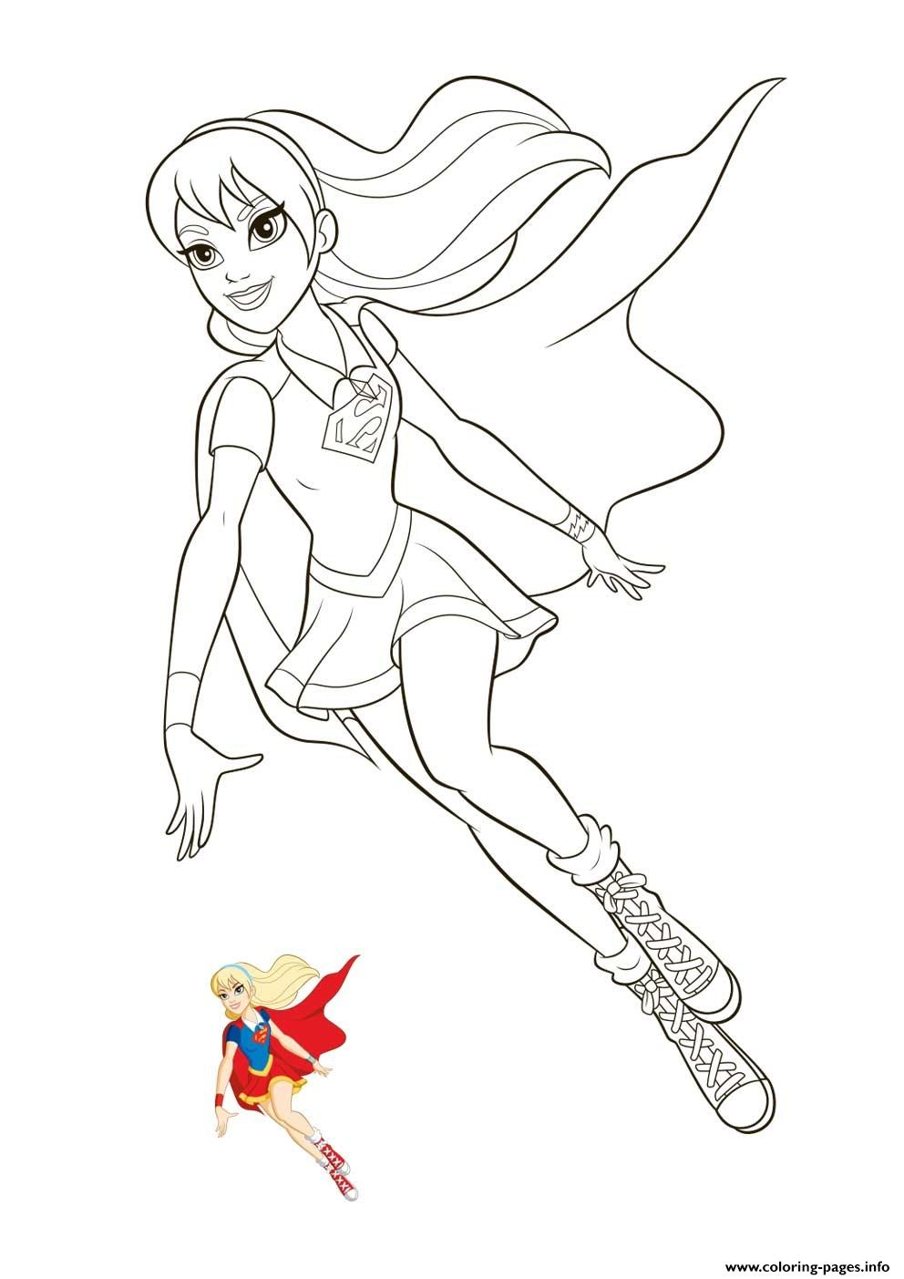 - Supergirl Super Hero Girls Coloring Pages Printable