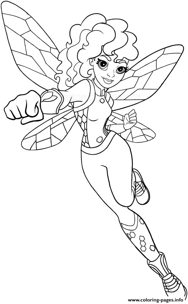 Bumblebee DC Superhro Girls coloring pages