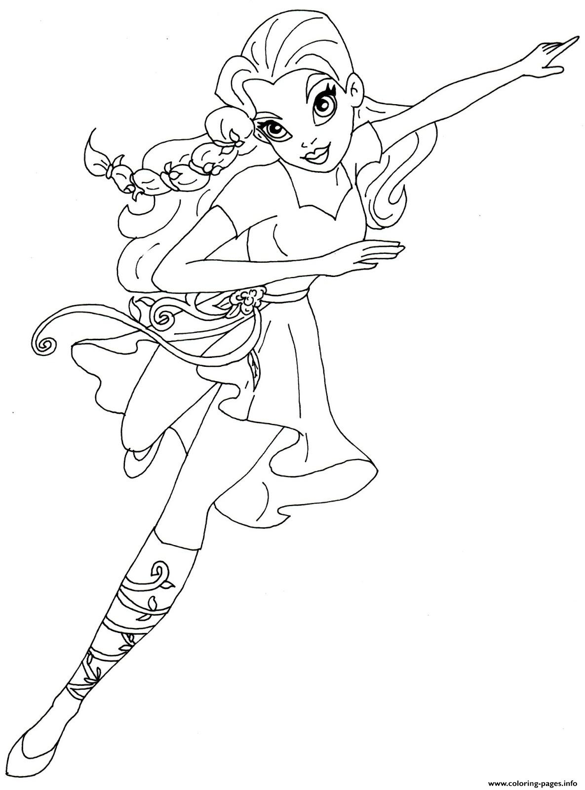 Poison Ivy Super Hero Girls DC coloring pages