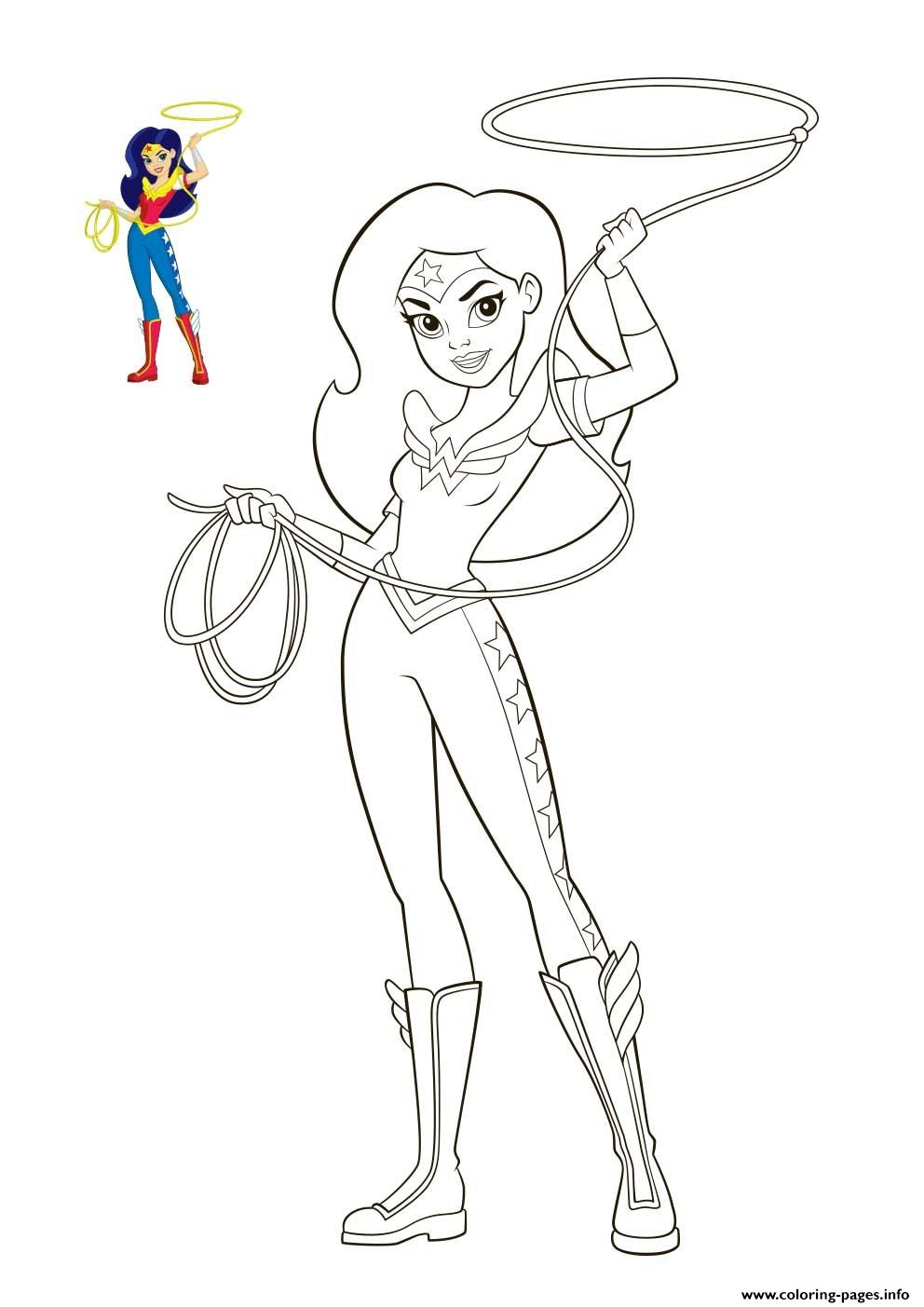 - Wonder Woman DC Super Hero Girls Coloring Pages Printable
