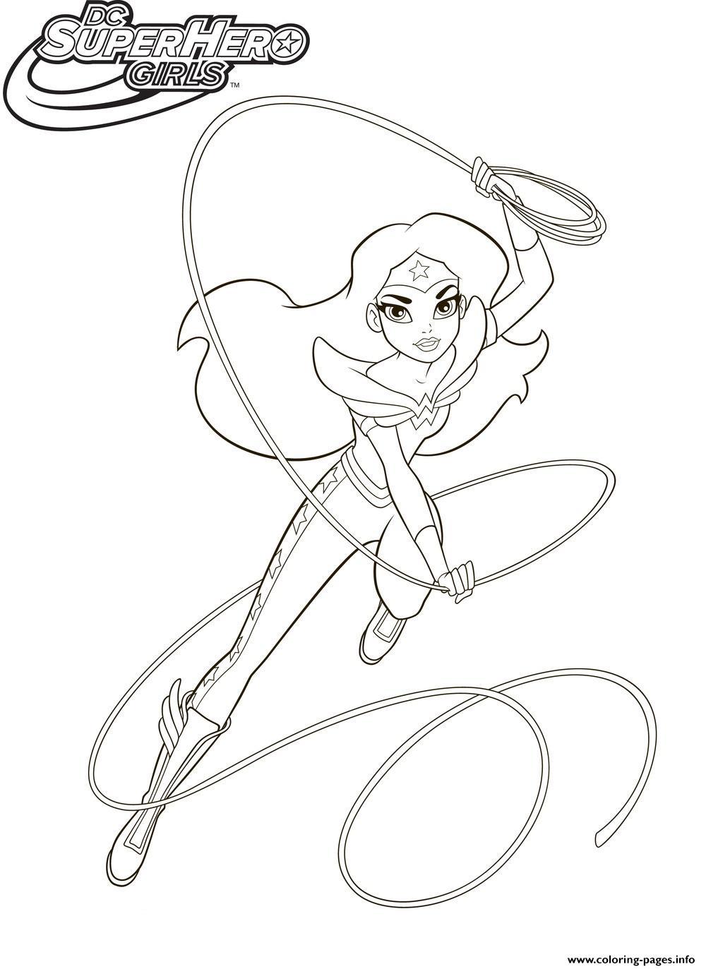 Wonderwoman Super Hero Girls Coloring Pages Printable