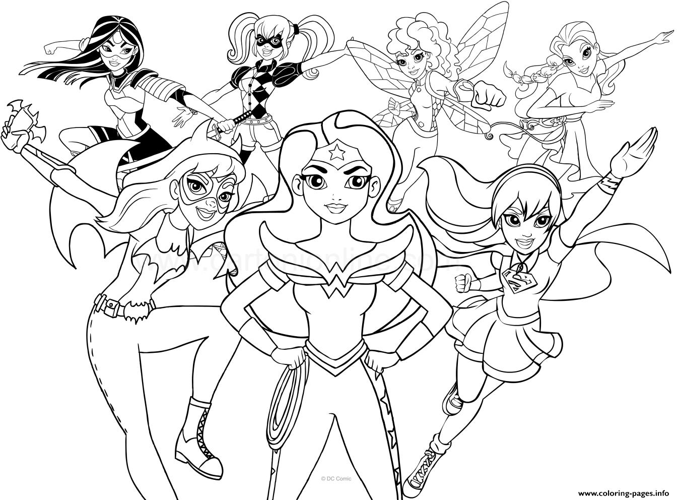 Dc Superhero Girls Coloring Pages Printable