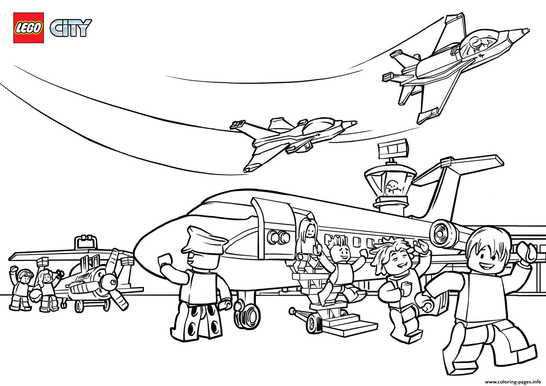 airport maps coloring pages | Lego City Airport Coloring Pages Printable
