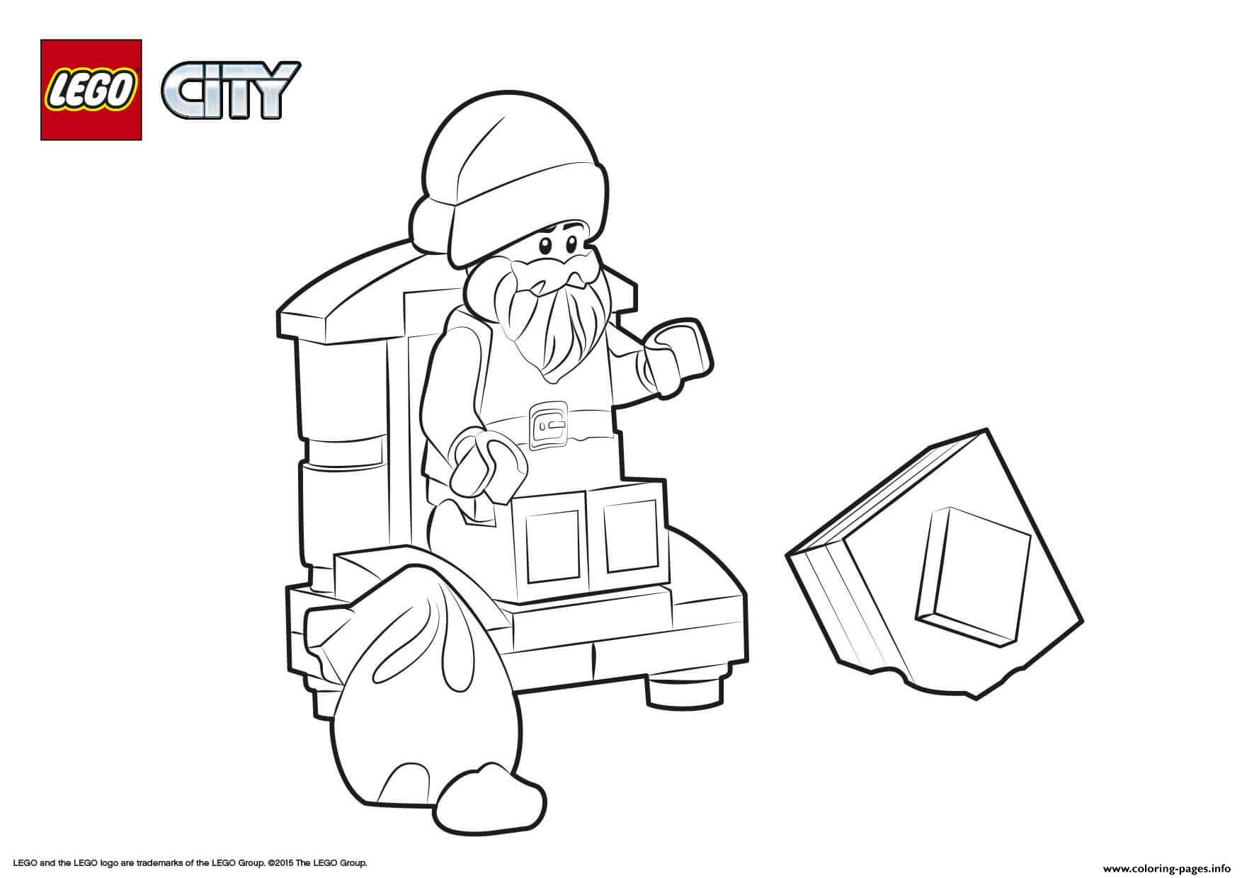 Lego City Santa Claus coloring pages