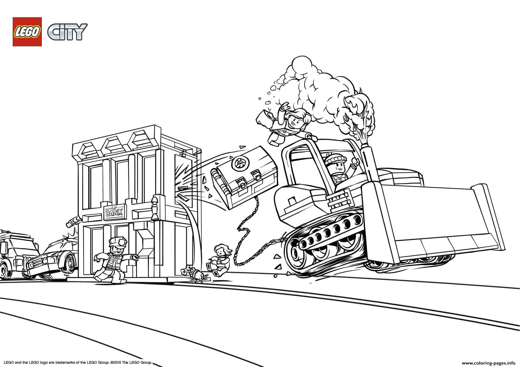Lego City Catch The Crooks coloring pages