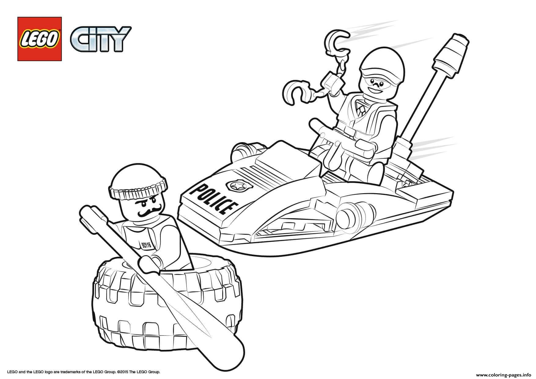 Lego City Police Tire Escape coloring pages